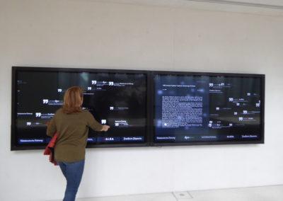 Interaktive Monitorwand Museum
