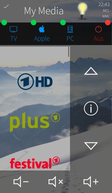 Medientechnik Steuerung TV