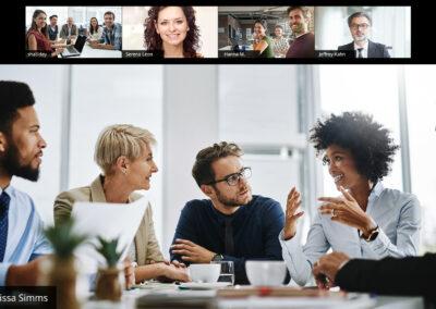 hybride Zoom-Meetings