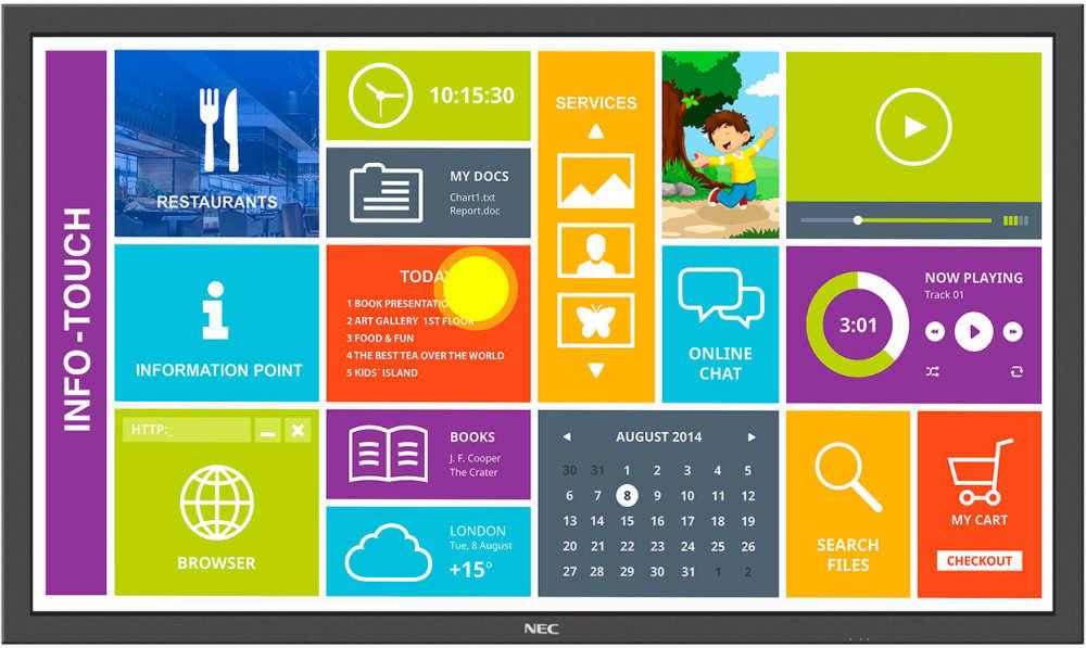 interaktives Touchdisplay