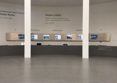 Pinakothek der Moderne Digitale-Beschilderung